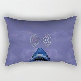 smiley-face Space creatures and strange shark;A breakthrough towards the future Rectangular Pillow