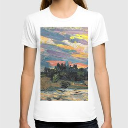 Tom Thomson - Sunset, Canoe Lake - Digital Remastered Edition T-shirt