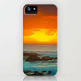 Sunset over childrens pool iPhone Case