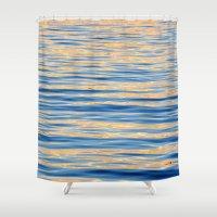 monet Shower Curtains featuring Monet Memories by Teresa Chipperfield Studios