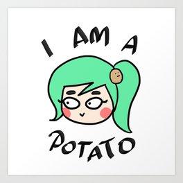 Potato Couple (Female) Art Print