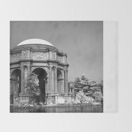 Palace Of Fine Arts - Infrared Throw Blanket