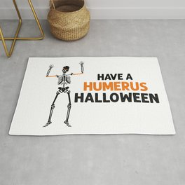 Skeleton! Have a Humerus Halloween Rug
