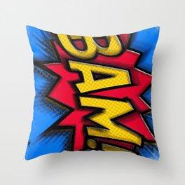 Bam Cartoon Comic Book Comics Comicon Cosplay Pop Art Gift Idea Apparel and Accessories Gifts Throw Pillow
