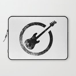 Bass Guitar Ink Stamp Laptop Sleeve
