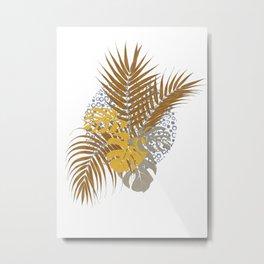 Exotic tropical leaves Metal Print