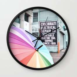 Umbrella Street Wall Clock
