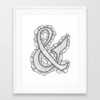 ampersand Framed Art Prints featuring Ampersand by Laura Maxwell
