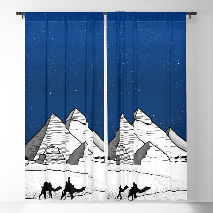 The pyramids of Giza Blackout Curtain