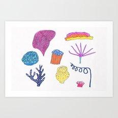 sea flora Art Print