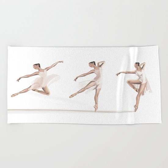 Ballet Dance Moves Beach Towel