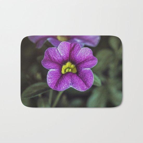 Purple fower Bath Mat