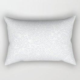 Embossed Powder & Pearl Lace Rectangular Pillow