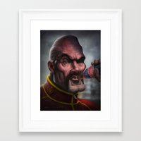 mike tyson Framed Art Prints featuring Mike Tyson Punch Out- Soda Popinski by Joel Stieber