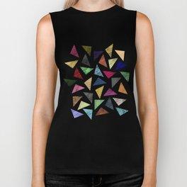 Colorful geometric pattern Biker Tank