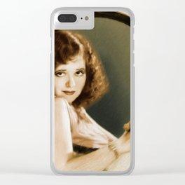 Clara Bow Clear iPhone Case