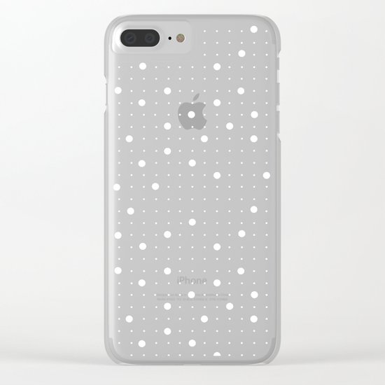 Pin Points Grey Clear iPhone Case