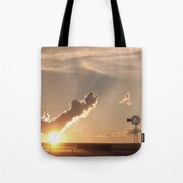 """Stock Tank Sunset"" by Murray Bolesta Tote Bag"