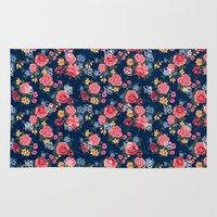 the 100 Area & Throw Rugs featuring 100 Floral by Dave Higs