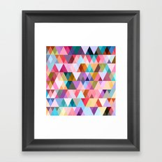 Triangle Mix #5 Framed Art Print