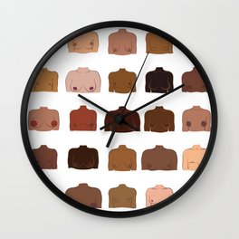Breasts, Chests, and The Rest Wall Clock