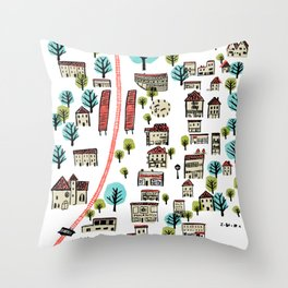 Narberth Surrounded Throw Pillow