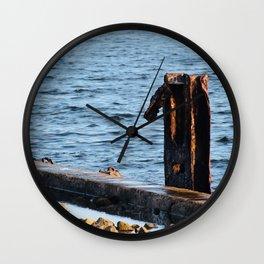 Port St. Joe Marina view 24 Wall Clock
