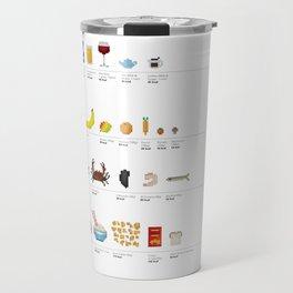 Fancy a Byte?: Food Pixel-Art Infographic Travel Mug