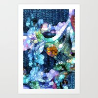 aquarius Art Prints featuring Aquarius by Joke Vermeer