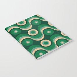 70s Optical Wallpaper Notebook