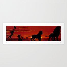 Simba's Pride Art Print