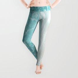 Soft Blue Gray Ocean Dream #1 #water #decor #art #society6 Leggings