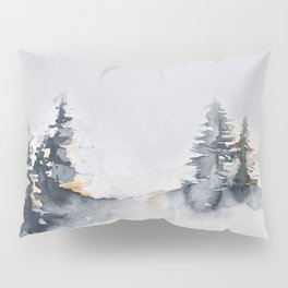 Watercolor Pine Pillow Sham