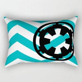 Imperial Cog on Blue Chevrons Rectangular Pillow
