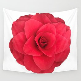 Red Camellia Bloom Wall Tapestry