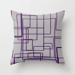 rectángulos superposiciones Throw Pillow
