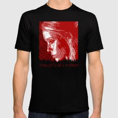 thoughtful woman Black Mens Fitted Tee MEDIUM