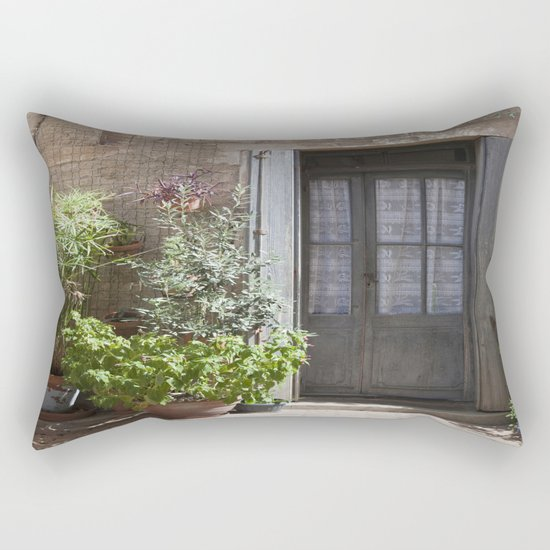 Mediterranean Entrance Rectangular Pillow