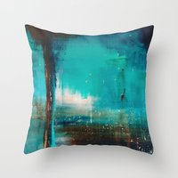industrial Throw Pillows featuring Industrial by Victoria Black
