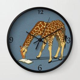 Reading Giraffe Wall Clock