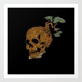 Timber Skull Art Print