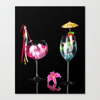 cocktail Canvas Prints featuring Cocktail by Simone Gatterwe