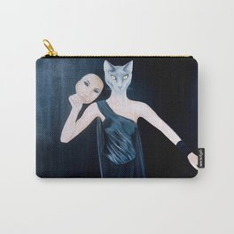 Woman or Cat - Top Secret Carry-All Pouch