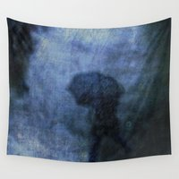 umbrella Wall Tapestries featuring Umbrella by PeDSchWork
