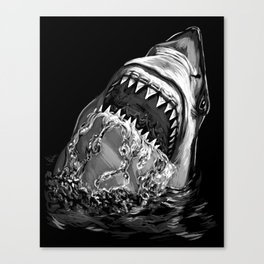 Shark Painting Canvas Print