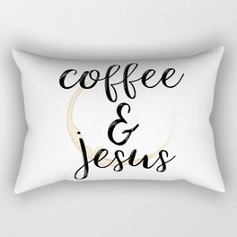Coffee and Jesus Rectangular Pillow