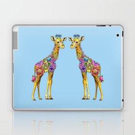 Geraldine the Geniunely Nice Giraffe Blue Laptop & iPad Skin