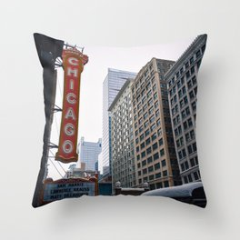 The Windy City Throw Pillow