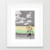 kansas Framed Art Prints featuring Kansas by NEMO