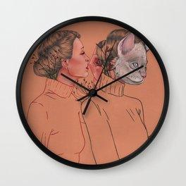 Ladys Cats Wall Clock